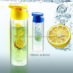 New design wholesale promotion custom logo Colorful water bottle plastic clear plastic drinking water bottle tritan fruit infuse