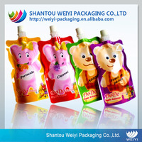 Custom softtextile screw cap pouch plastic spout bags for baby food pouch