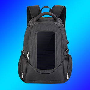 Soft and portable sunpower solar backpack, solar bag with solar charger, solar rucksack with rechargeable solar panel