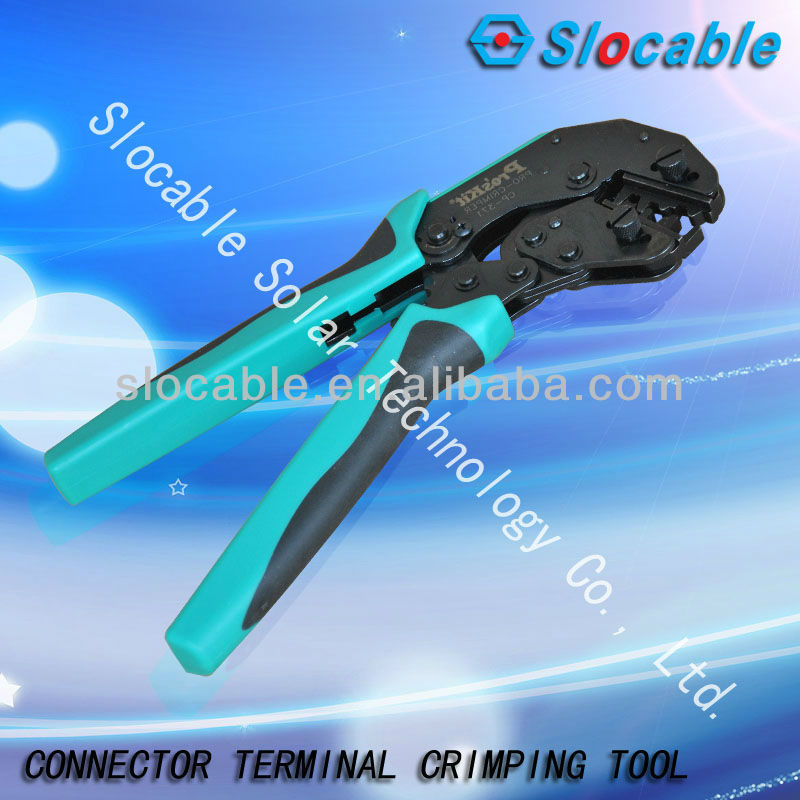 hand crimping installation tool for pressing cable to MC4 connector terminal in solar energy system