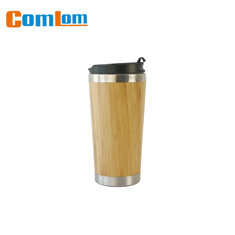 Top class stainless steel bamboo thermos vacuum cup