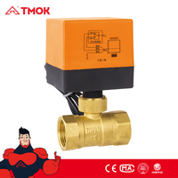 CW617N brass material Electric two way ball valve/motor-driven ball valve/ hydraulic solenoid valve