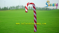 Nylon Inflatable Advertising Candy Cane , Varicolored Funny Candy Decorations