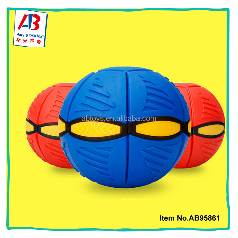 Promotional wholesale magic frisbee toy EVA flat ball disc for kids
