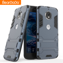 Latest design kickstand phone accessories back cover case for motorola moto g6