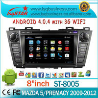 Dropship! Android car multimedia players for Mazda 5 with GPS,Radio,BT,DTV,APP,3G,WIFI,2 year warranty,LSQ Star ST-8005
