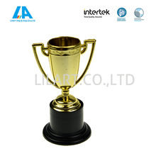 Promotional gift plastic trophy cup as plastic products for custom design and celebration