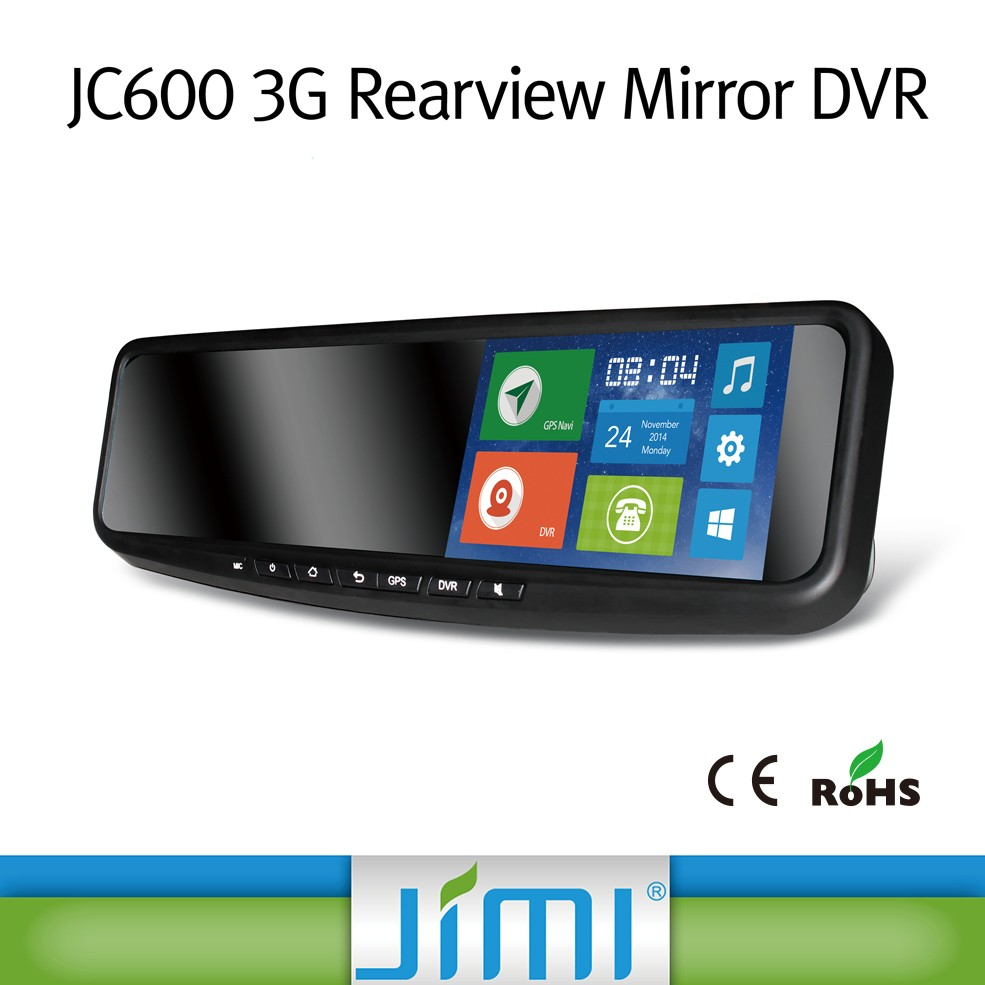 JIMI 3g andriod car bluetooth rearview mirror vehicle traveling data recorder