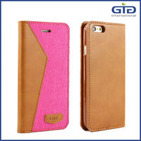 [GGIT] High Quality Canvas Free Sample PU Jeans Leather Mobile Phone Case Cover for iPhone 6