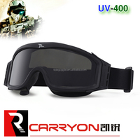 factory wholesale black tpu frame 3.0mm thickness lens military safety goggle,ballistic airsoft goggle,army tactical goggle