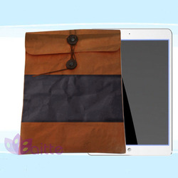 washedable paper fabric bag enviromental material sleeve for iPad pro