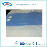 Disposable Hospital Surgical Drape with hole Femoral Angiography Drape