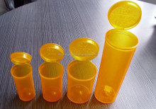 Pop Top Vials,Plastic Drug Bottle,Amber Colored Bottles