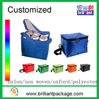 Wholesale polyester cool carry picnic 6 can bottle cooler bag