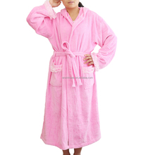 Customized Pink Terry / Waffle Cotton Hotel Bath Robe