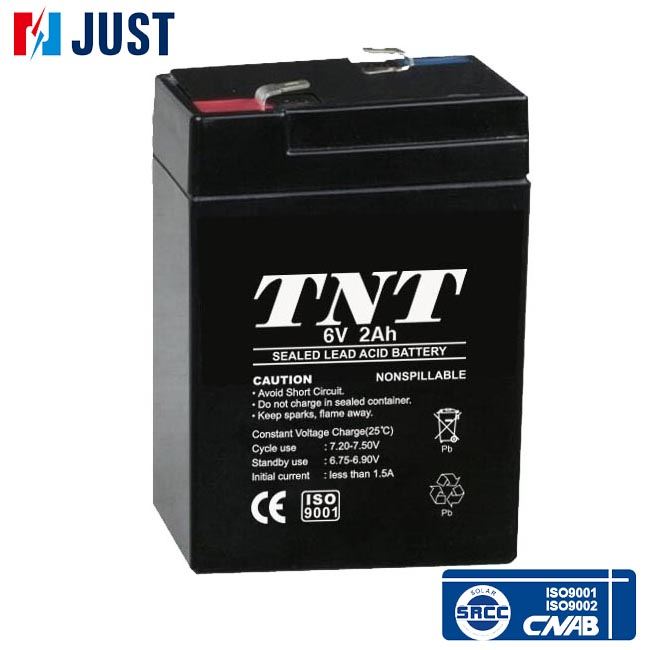 6v 2ah maintenance free deep cycle rechargeable battery
