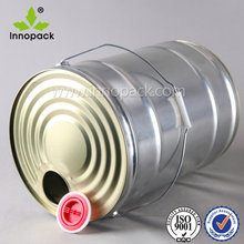 Innopack Empty Metal Tin Drum/Pail/Can/Bucket/Container with Spout 25 Liter