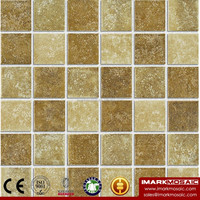 IMARK Mixed Color Rustic Style Porcelain Mosaic Tile/48*48mm Ceramic Mosaic Tile For Home Interior Wall Decoration