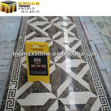 natural fine dark emperador waterjet marble tiles for flooring