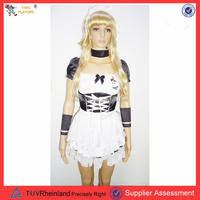 PGWC0048 2015 Hot selling latex costume sexy maid costume