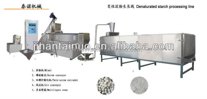 Modified Denatured starch equipments/production line/extruder machine