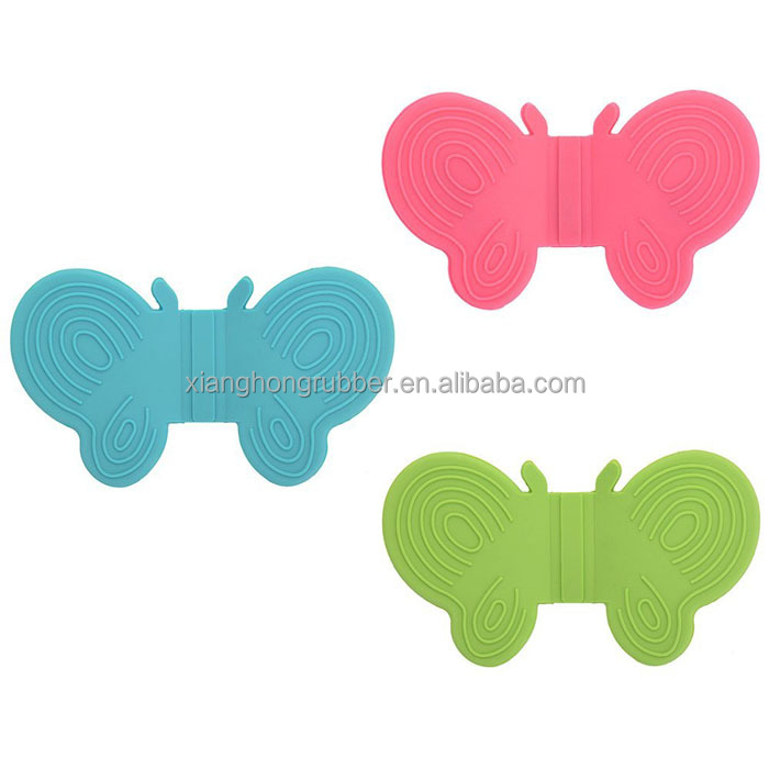 Butterfly Oven Grab Mitt Silicone Hot Dish Plate Bowl Pot Holder Carrier Anti-Scald Clamp Magnetic Fridge Clip Handy
