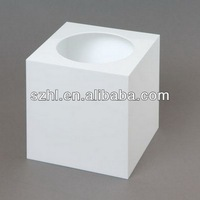White acrylic lottery box with open hole