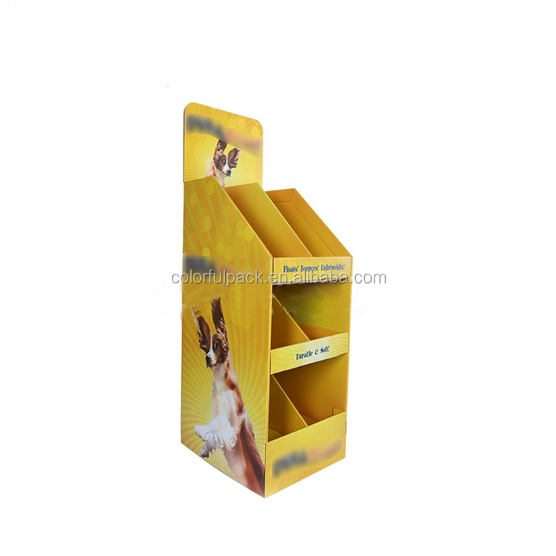 Customize OEM cardboard dvd display stand/portable display stand/fishing reel display stand