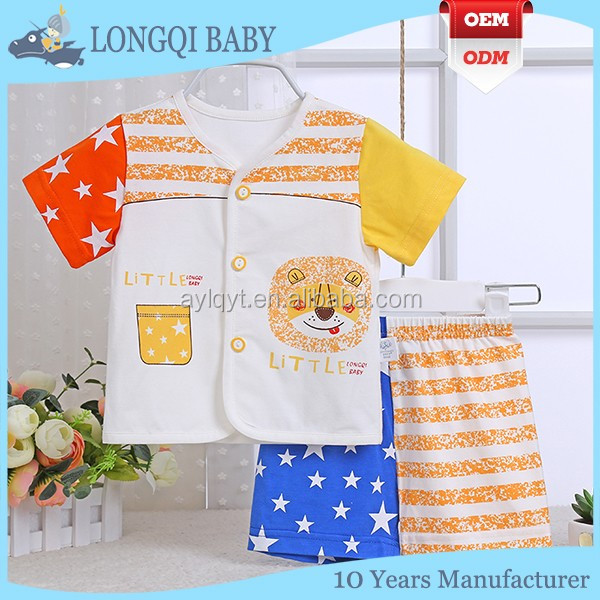 XZ-MC-051 fashion cotton baby summer clothes new boy suit