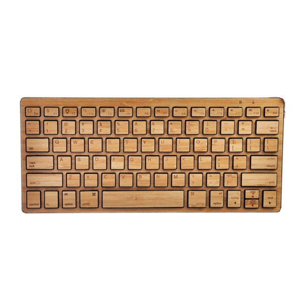 Ultra Slim wireless bamboo keyboard for ipad, ipad mini, ipad air