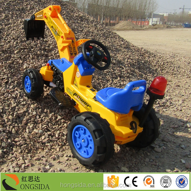 Safety and envoirment PP Material kids ride on Toy Excavator for Sale