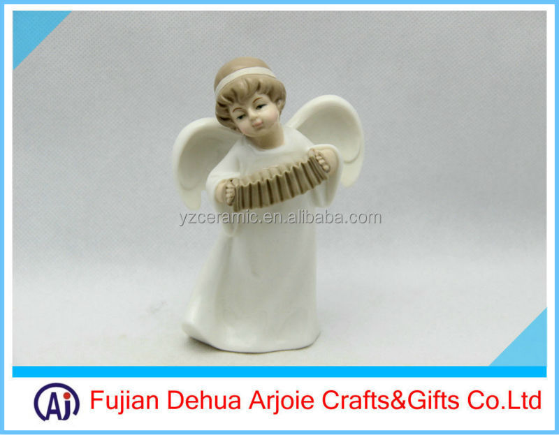 DEHUA Ceramic Angel With Musical Instruments