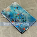 blue butterfly style hard case cover for apple ipad mini