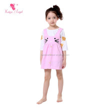 2pcs suspender skirt 3/4 sleeve T-shirt easter kids clothing wholesale children's wear