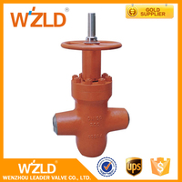 WZLD Safe Design Dn100 Ductile Iron High Pressure Casting Steel Fire Signal Gate Valve