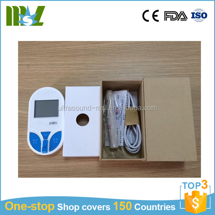 CE approved high accuracy easy and quick test blood glucose meter