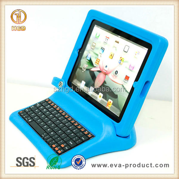 Rubber eva foam for ipad case with keyboard