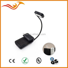 3 LED target adjustable LED mini clip book light with 2 W high power