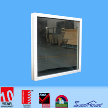 Superhouse Amercian Standard Bullet-proof Aluminium tempered glass fixed picture corner window