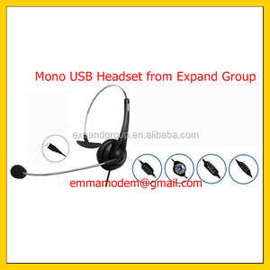 Headset USB Monoaural, Monoaural USB Headset with Noise-Canceling Microphone
