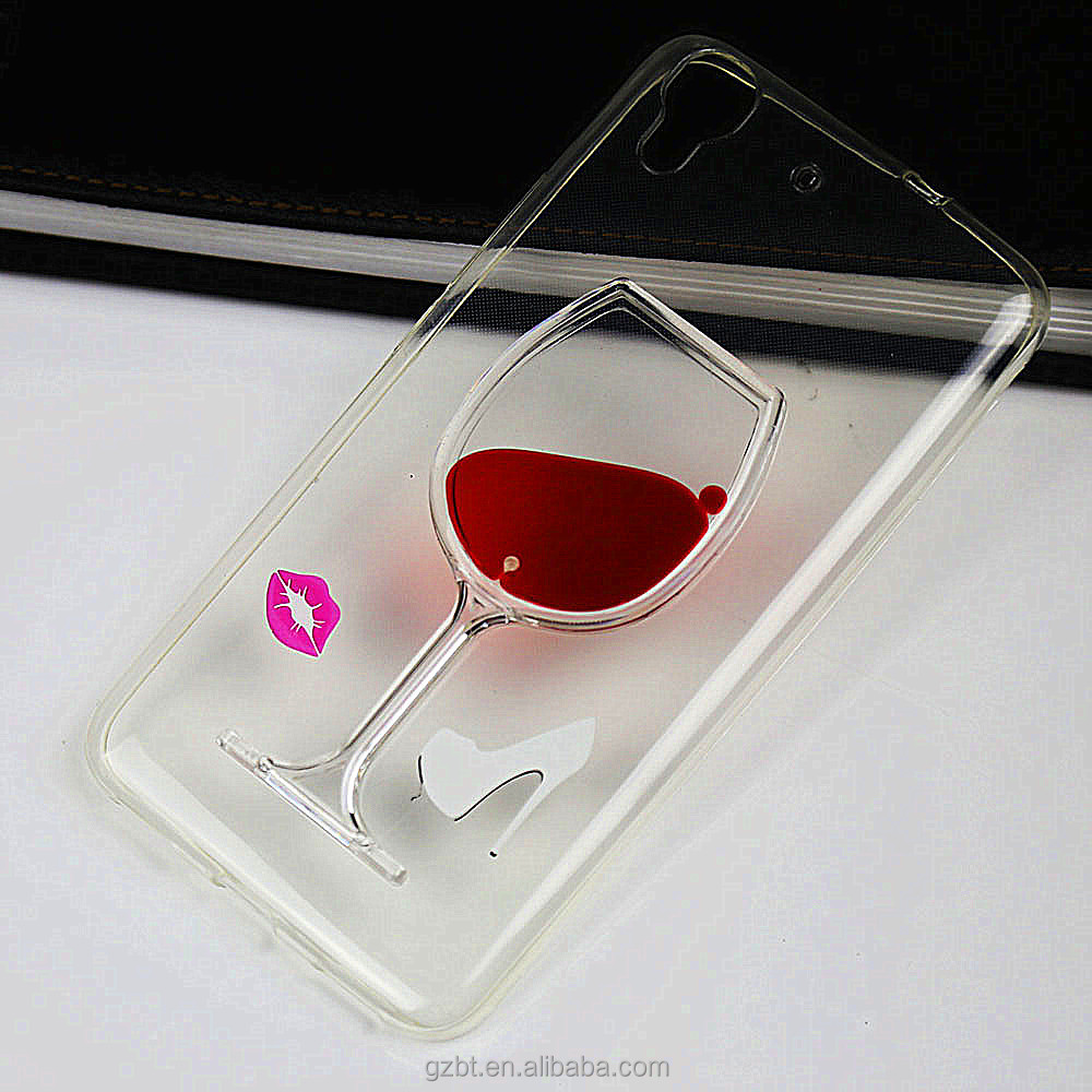 Red Wine Glass Beer Moving Liquid 3D Case Cover For Iphone 5/6