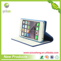 High quality waterproof pu leather dot view case for iphone 6