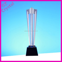 Custom Made Cheap China Champions League Crystal Trophies