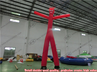 Customized Red Inflatable Sky Dancer Tube One Leg Air Dancer