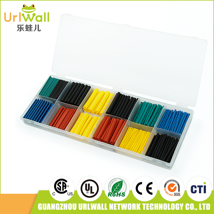 Newest 280Pcs 12.6m Mixed Color Heat Shrink Tube Sleeving Heatshrink Tubing Wire Kit & Box 8 size