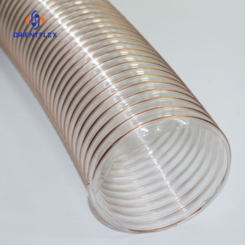 China thick wall reinforced polurethane pu steel wire pvc duct hose manufacturers