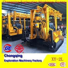 DTH Hammer Drilling,High Quality XY-2L Truck Mounted Micropiles Hole Drilling Rig with Mud Pump