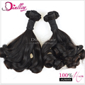 Nice looking hot selling tangle free flower spiral curl hair wefts