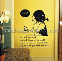 China supplier static cling window label carton decorative wall sticker