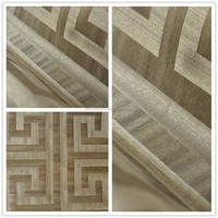 wooden bamboo natural material veneer wallpaper